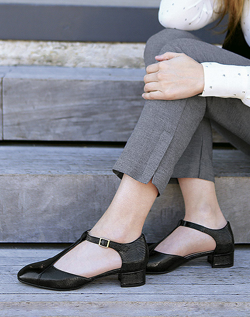 Sybil Block Heel T-Strap